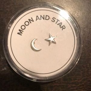Alex and Ani. Moon and Star earrings.
